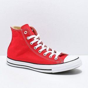 Converse CTAS Hi Red & White Shoes